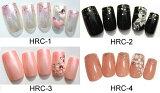 ◎【ジェルコーティング付き】オーダーネイルチップ 選べる4種類 ピンク ブラック ベージュ 3D バラ パール ネイルチップ HRC-1〜4【ネイル ネイルチップ 手の爪用 ベージュ系】