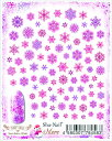 在庫一掃 最終値下げ メール便送料無料 写ネイル more ネイルシール Snowflakes (Pink) MSF-002