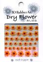 【在庫限り】3D RubberArt Series おしばなシリーズ Dry Flower DF-4(オレンジ) ◇【ネイル ネイルアート用品 ネイルシール 3Dネイルシール 貼るだけ】