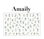◎【数量限定価格・即納】Amaily アメイリー ネイルシール No.1-16 ボタニカル【Amaily アメイリー 花 フラワー ホワイト】