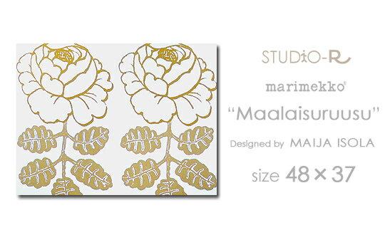 【花2個入】 marimekko/マリメッコ ファブリックパネル ファブリックボード Maalaisruusu(WHT)[ご注文サイズ:W48cm×H37cm] 【北欧 ファブリック】