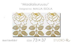 ファブリックパネル/ファブリックボード(木製ボード)人気のMaalaisuruusuの新色!白地にゴー...