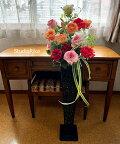 アートフラワー造花高級アレンジメントバラスタンドインテリア豪華ゴージャス贈り物オープンお祝い翌日即日母の日