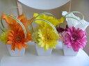 【あす楽対応】ガーベラとピンポンマムのアレンジ【楽天ランキング入賞】【インテリアフラワー】【アートフラワー(高級造花)アレンジメント】