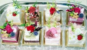 プリザーブドフラワーの可愛いバラを使ってケーキをつくりました1ヶだけでも可愛いけれど たく...