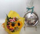 ミニ花束とポルトガル産チョコクッキー