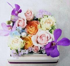 ふたをあけるとお花の宝石が、小さな幸せ届けます! 【送料無料】【アレンジ】秘密のフラワー...