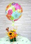 【送料無料】【花とバルーン】生花アレンジとバルーン【楽ギフ_メッセ入力】【smtb-s】