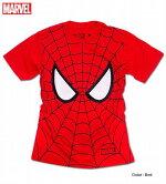 スパイダーマンマスク全面プリントMARVELAMAZINGSPIDER-MAN半袖Tシャツユニセックスペアルック男女兼用新生活プレゼントイベント【ラッキーシール対応】