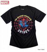 スパイダーマンアメコミSPIDEYプリントAMAZINGSPIDER-MAN半袖Tシャツユニセックスペアルック男女兼用新生活プレゼントイベント【ラッキーシール対応】