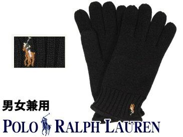 ポロ ラルフローレン CLASSIC LUX MERINO GLOVE 海外BOYSモデル 男性用兼女性用 POLO RALPH LAUREN手袋 グローブ ポロブラック(01-21238520)