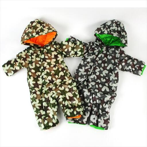 在庫処分セール baby 星カモフラ柄 カバーオール(70cm)ベージュ【RCP】画像