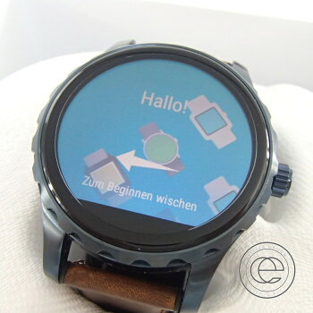 FOSSIL【フォッシル】FTW2106Qマーシャルウエアラブルタッチスクリーンブラウンレザースマートウオッチ腕時計ステンレススティールユニセックス【】