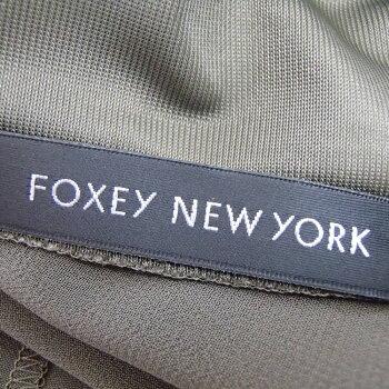 3699dd9334dda ... FOXEY NEW YORK フォクシーニューヨーク  26823 アンダードレス付き エアリーシフォンドレスワンピース38 ...
