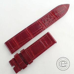 FRANCK MULLER حزام جلد التمساح اللامع / حزام أحمر [مستعمل]