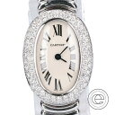 Cartier カルティエ WB5095L2 2重ダイヤ ミニベニュワール クオーツ 腕時計 シルバ ...
