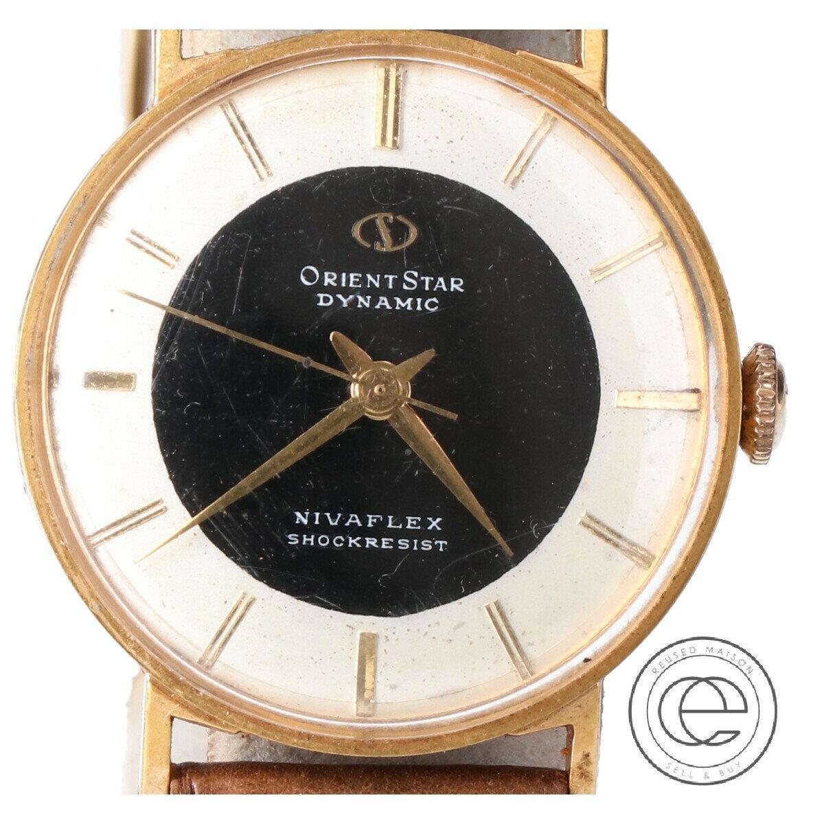 腕時計, メンズ腕時計 ORIENTSTAR DYNAMIC NIVAFLEX SHOCKRESIST T13033 14K YG