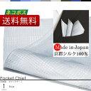 ポケットチーフ 日本製 京都シルク で織り上げた ポケットに挿すだけで簡単にワンランク上のスタイルに ポケットチーフ シルク 100% グレンチェック 柄 ライトブルー