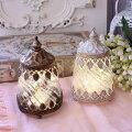 スタイルロココ LEDランタン (S ホワイト ゴールド) ランタン LED 北欧 アンティーク風 アンティーク 雑貨 姫系 輸入雑貨 シャビーシック フレンチカントリー
