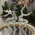 スタイルロココ クリスマス 置物 アクリルディアーデコ2個セット 6107 トナカイの置物 鹿 オブジェ クリスマスツリー シャビーシック 北欧 フレンチ ロマンティック 可愛い クリスマス飾り