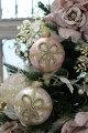 スタイルロココ クリスマスオーナメント ガラス製 (リボンモチーフ)アンティーク風 シャビーシック 北欧 フレンチ ロマンティック 可愛い クリスマス飾り