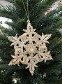 スタイルロココ クリスマスオーナメント (スノーフレーク・雪の結晶 アイボリー)木馬 アンティーク風 シャビーシック 北欧 フレンチ ロマンティック 可愛い クリスマス飾り