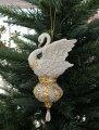 スタイルロココ クリスマスオーナメント (スワンオーナメント・白鳥)アンティーク風 シャビーシック 北欧 フレンチ ロマンティック 可愛い クリスマス飾り