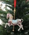 スタイルロココ クリスマスオーナメント (ゼブラカルーセル・シマウマ)アンティーク風 シャビーシック 北欧 フレンチ ロマンティック 可愛い クリスマス飾り