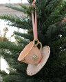 スタイルロココ クリスマスオーナメント (カップ&ソーサー ピンク)アンティーク風 シャビーシック 北欧 フレンチ ロマンティック 可愛い クリスマス飾り
