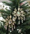 スタイルロココ クリスマスオーナメント (ジュエリードロップ・ゴールド系)アンティーク風 シャビーシック 北欧 フレンチ ロマンティック 可愛い クリスマス飾り