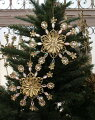 スタイルロココ クリスマスオーナメント (ジュエリースノー・ゴールド系)アンティーク風 シャビーシック 北欧 フレンチ ロマンティック 可愛い クリスマス飾り