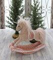 スタイルロココ クリスマス置物 (ロッキング ユニコーン 木馬)アンティーク風 シャビーシック 北欧 フレンチ ロマンティック 可愛い クリスマス飾り