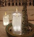 スタイルロココ クリスマス置物 (アクリルライトキャンドルL LED)アンティーク風 シャビーシック 北欧 フレンチ ロマンティック 可愛い クリスマス飾り