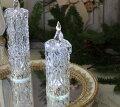 スタイルロココ クリスマス置物 (アクリルダイヤモンドキャンドルM LED)アンティーク風 シャビーシック 北欧 フレンチ ロマンティック 可愛い クリスマス飾り