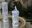 クリスマス置物 (アクリルダイヤモンドキャンドルS LED6740)アンティーク風 シャビーシック 北欧 フレンチ ロマンティック 可愛い クリスマス飾り