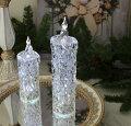 スタイルロココ クリスマス置物 (アクリルダイヤモンドキャンドルL LED)アンティーク風 シャビーシック 北欧 フレンチ ロマンティック 可愛い クリスマス飾り