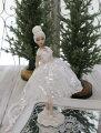 スタイルロココ クリスマス置物 (ワンダーランドプリマ バレリーナ 置物)アンティーク風 シャビーシック 北欧 フレンチ ロマンティック 可愛い クリスマス飾り