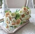 スタイルロココ オールドローズブーケ (ベージュ&クリーム) バラ 薔薇 造花 シルクフラワー アーティフィシャルフラワー インテリアフラワー ブーケ 花束