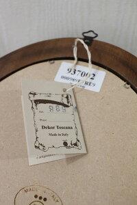 イタリア製のルドゥーテの額絵リボンモチーフオーバル小型シャビーシック木製フレンチ雑貨アンティーク雑貨姫系