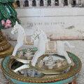 スタイルロココ ホワイトロッキングホースオブジェ 木馬 8510 クリスマス 飾り 置物 オブジェ ヨーロピアン アンティーク風 アンティーク 雑貨 姫系 輸入雑貨 シャビーシック 可愛い
