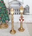 スタイルロココ ゴールドLED ストリートランプ リース8491 ガーランド8490 クリスマス 飾り 置物 オブジェ ヨーロピアン アンティーク風 アンティーク 雑貨 姫系 輸入雑貨 シャビーシック 可愛い