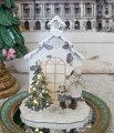 スタイルロココ スノーウィハウス&コーラスガール LEDオブジェ  8513 クリスマス 飾り 置物 オブジェ ヨーロピアン アンティーク風 アンティーク 雑貨 姫系 輸入雑貨 シャビーシック 可愛い