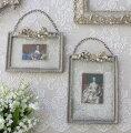 スタイルロココ バロック リボンフレーム・縦/横(8416)壁掛けフレーム 写真 額 フレンチ アンティーク風 アンティーク 雑貨 姫系 輸入雑貨 シャビーシック 可愛い 飾り棚