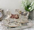 スタイルロココ バロック ロッキングホース(8681 ボルドー ネイビー)木馬 馬 置物 オブジェ ヨーロピアン アンティーク風 アンティーク 雑貨 姫系 輸入雑貨 シャビーシック 可愛い