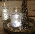 スタイルロココ クリスマス置物 (アクリルスターキャンドルS LED6743)アンティーク風 シャビーシック 北欧 フレンチ ロマンティック 可愛い クリスマス飾り