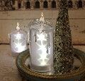 スタイルロココ クリスマス置物 (アクリルスターキャンドルL LED6744)アンティーク風 シャビーシック 北欧 フレンチ ロマンティック 可愛い クリスマス飾り