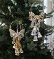 スタイルロココ X'mas♪♪ ドアベル・リボンモチーフ(ゴールド/シルバー) オブジェ クリスマス ディスプレイ シャビーシック フレンチカントリー アンティーク 雑貨 輸入雑貨 antique shabby chic