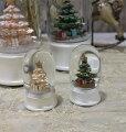 スタイルロココ X'mas♪♪ ミニスノードーム・ツリーショート(2色あり) スノードーム オブジェ クリスマス ディスプレイ シャビーシック フレンチカントリー アンティーク 雑貨 輸入雑貨 antique shabby chic
