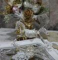 スタイルロココ X'mas♪♪ アクリルホース(木馬の置物) オブジェ クリスマス ディスプレイ シャビーシック フレンチカントリー アンティーク 雑貨 輸入雑貨 antique shabby chic