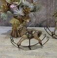 スタイルロココ X'mas♪♪ アンティークカラーのロッキングホースS オブジェ クリスマス ディスプレイ シャビーシック フレンチカントリー アンティーク 雑貨 輸入雑貨 antique shabby chic